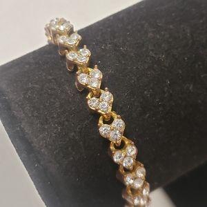 Vintage Heart Crystal Bracelet